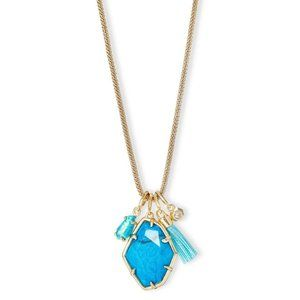 NWT Kendra Scott Hailey Gold Long Pendant Necklace